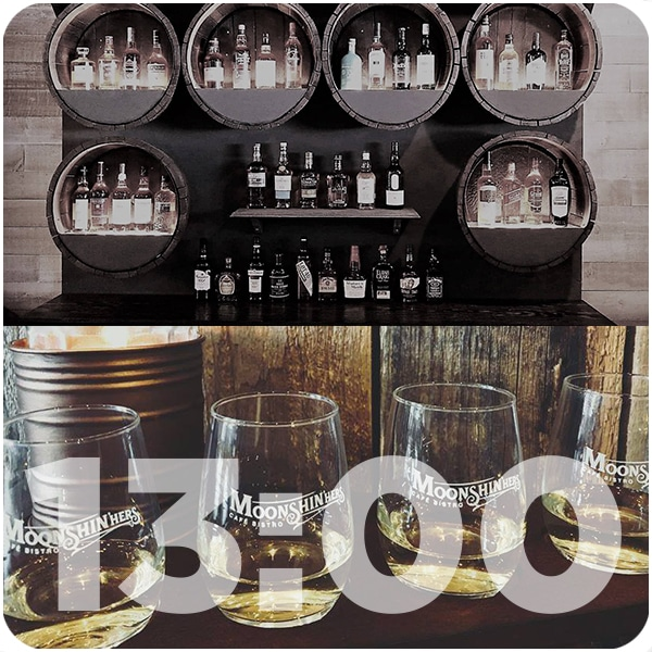 Moonshin'hers, the one and only whisky bar in Edmundston, Canada