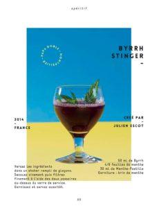 Anecdote Cocktail with Julien Escot: #1 Le Byrrh Stinger