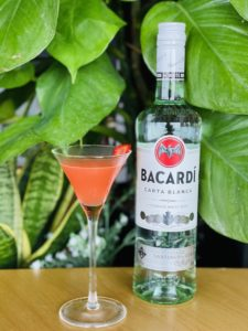 cocktail made with bacardi rum by bartender demitria dana