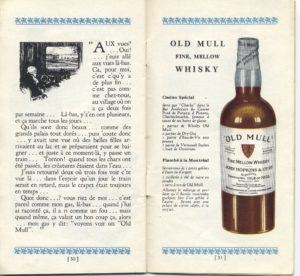 old mull whisky puis le gas y dit
