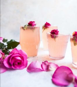 cocktail with roses